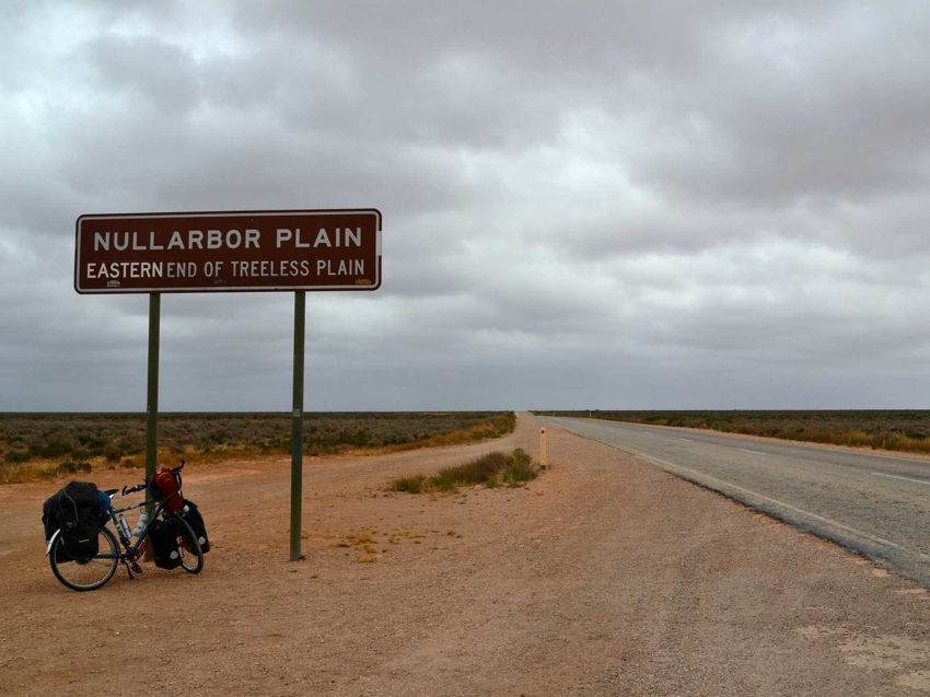 Here's the start of a treeless section of Nullarbor Plain
