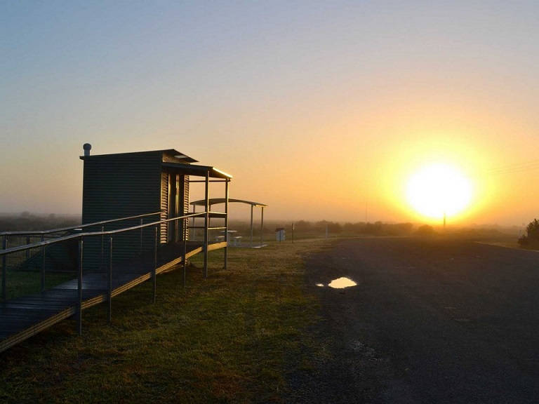 many-of-the-camping-spots-in-australia-were-right-beside-the-highway-its-chilly-at-sunrise-but-starts-getting-warmer-around-9-am