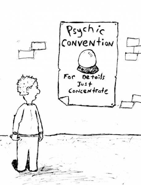 psychic cartoon