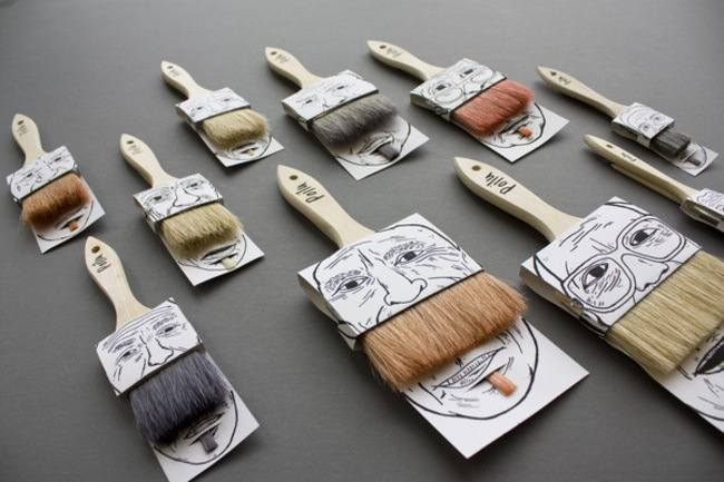 15-Paint Brushes-Clever Product Packages
