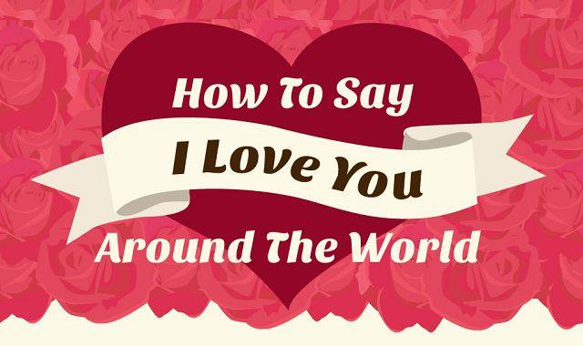 How To Say I Love You Around The World – Infographic