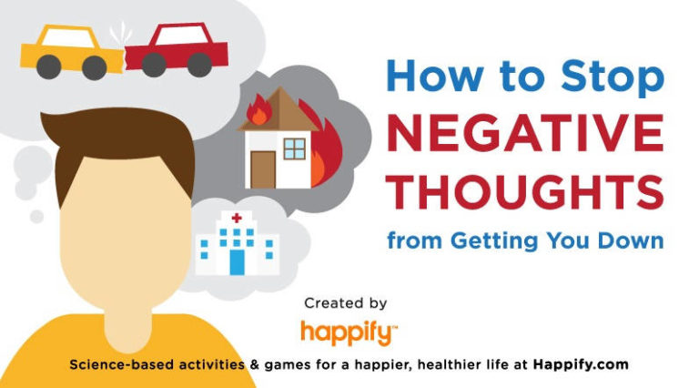 How to Stop Negative Thoughts from Getting You Down – Infographic