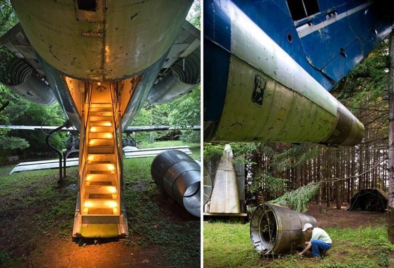 This Man Transformed Old Boeing-727 into an Awesome House in the Woods!