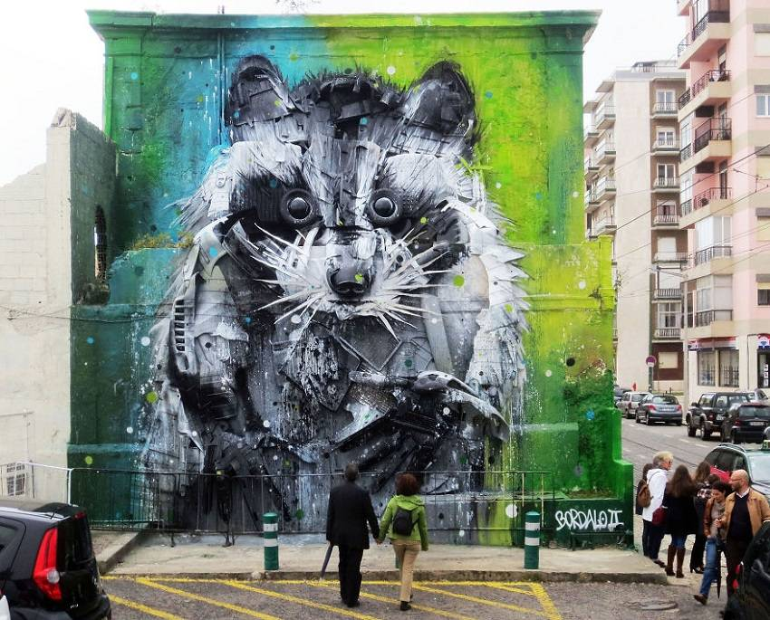 09-Bordalo II - Amazing Murals From Trash