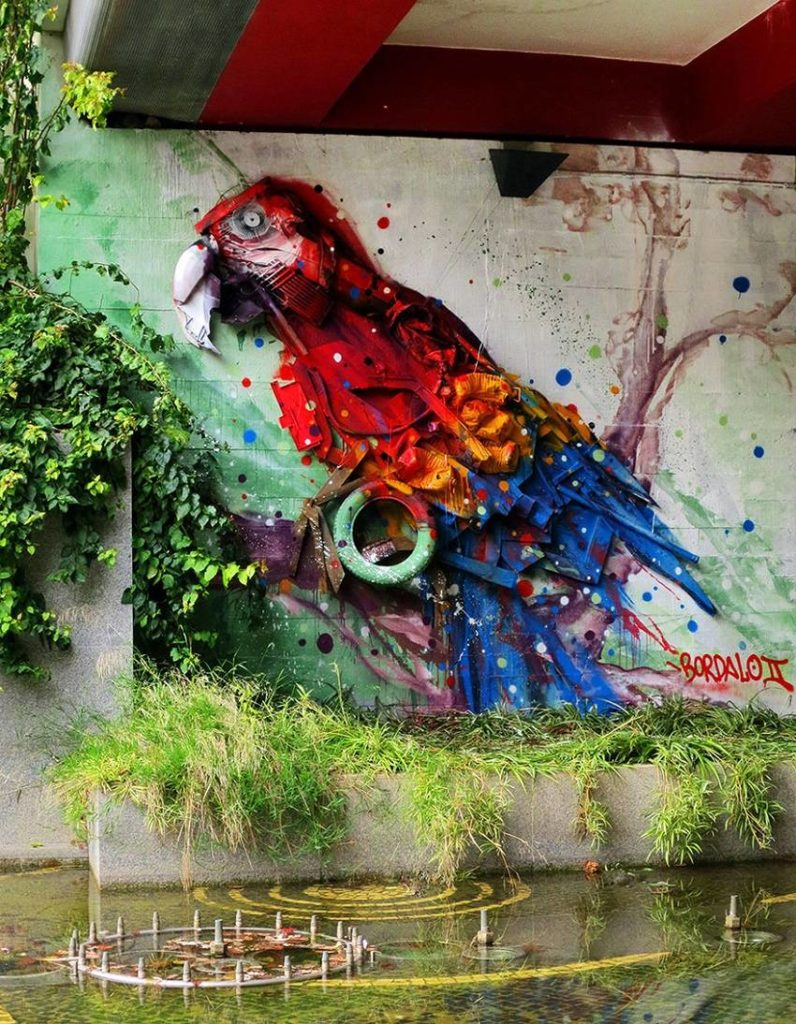 10-Bordalo II - Amazing Street Art Murals From Trash