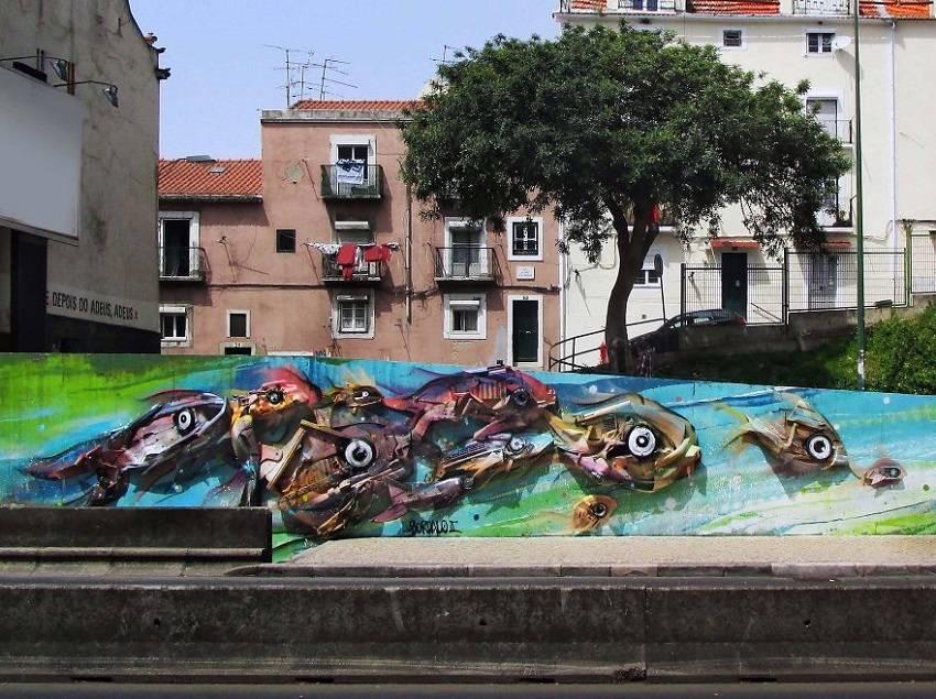 12-Bordalo II - Amazing Street Murals From Trash