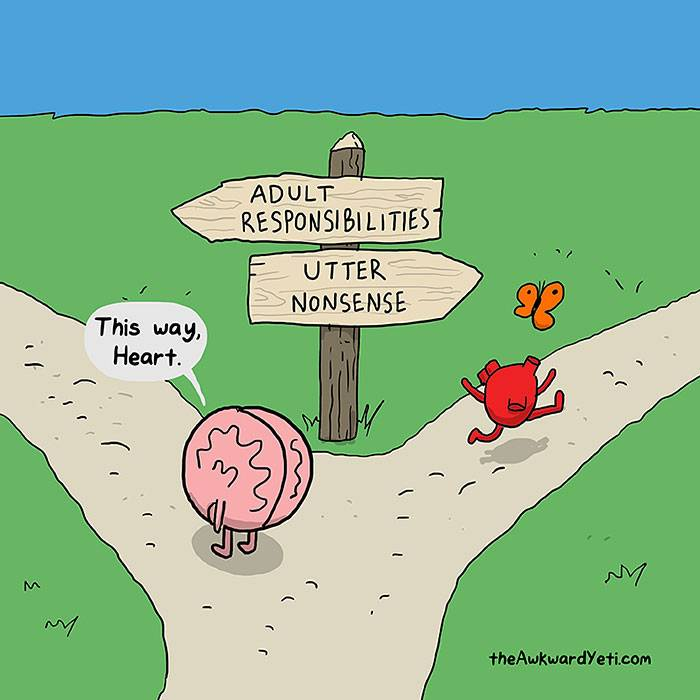 Read more about the article Heart Vs. Brain: Funny Comic Depicts the Never-Ending Battle Between Our Emotions and Logic