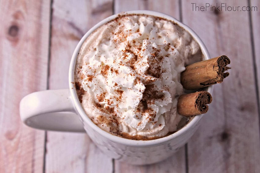 Cinnamon Chocolate Wine Latte