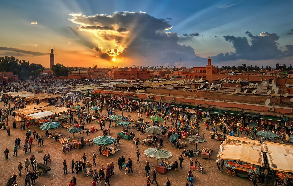 Magnificent Sunsets Marrakech, Morocco