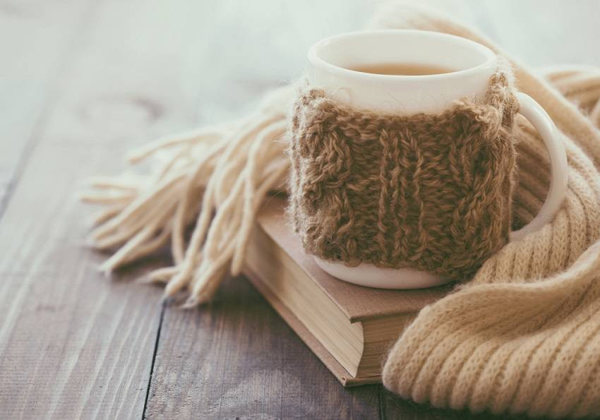 3. Knitted mug cozy