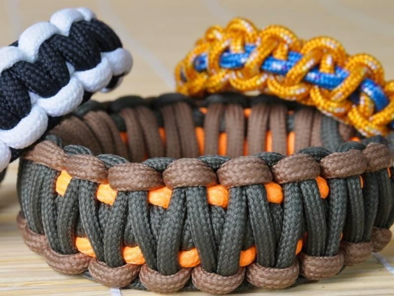 9. Paracord bracelets