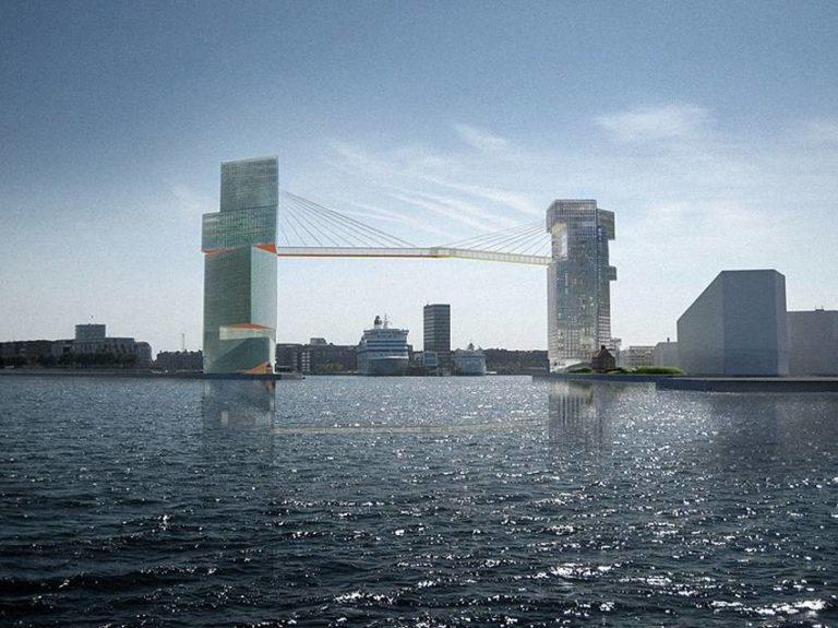 Copenhagen Is Building Crazy Bike Lane Between Two Skyscrapers, 65 Meters in the Air
