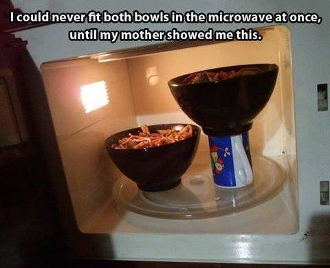 Maximize your microwave space