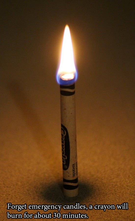 Use crayons to make candles