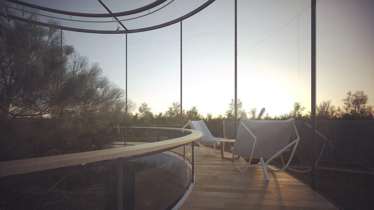 04-Cylindrical Glass House