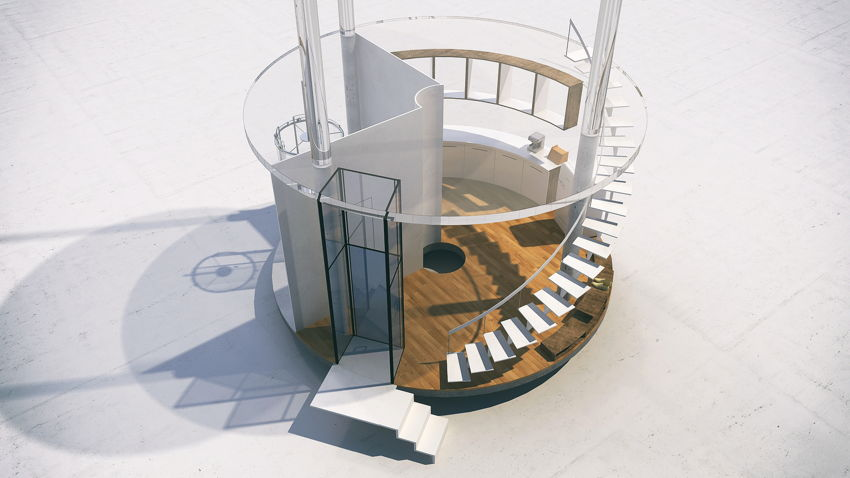06-Cylindrical Glass House