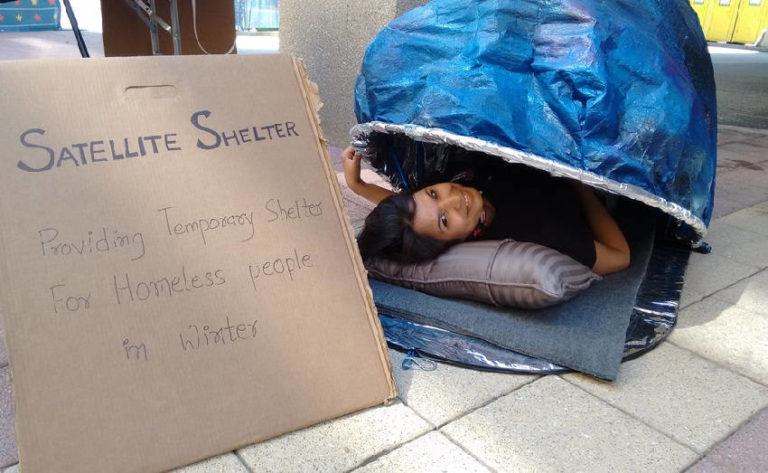 Satellite Shelter: A Sleeping Bag That Transforms into a Tent Could Provide Refuge to the Homeless