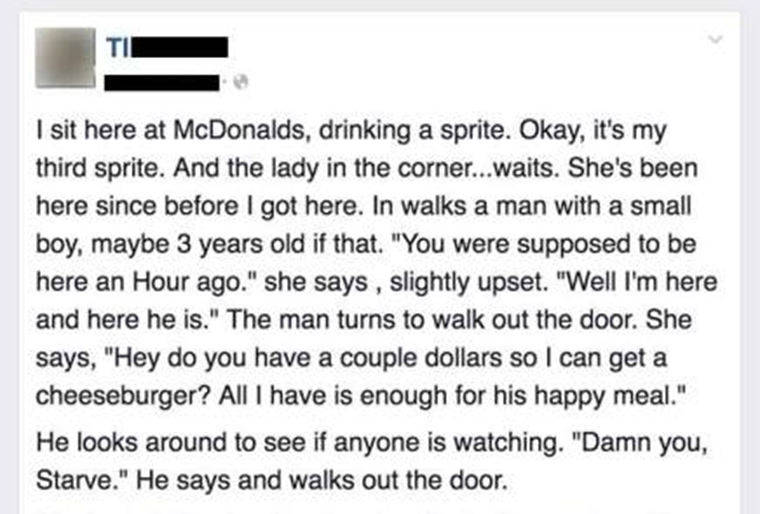 Read more about the article This Heart Warming Story about a Hungry Mom at McDonalds Will Restore Your Faith in Humanity