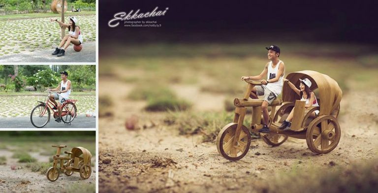 Wedding Photographer Turns Newly Married Couples into Miniatures
