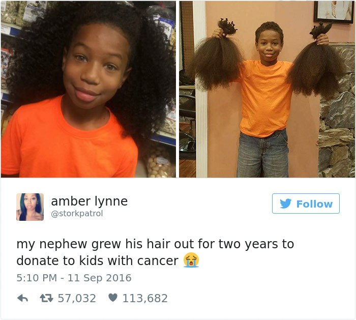 Heartwarming Story of an 8-Year-Old Boy Who Donated His Hair for Cancer Patients