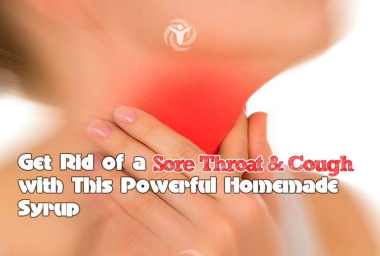 Powerful Homemade Syrup for Sore Throat and Cough