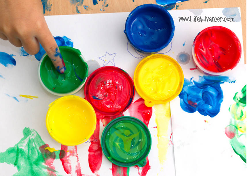 Finger Painting Revoke Inner Child Release Stress