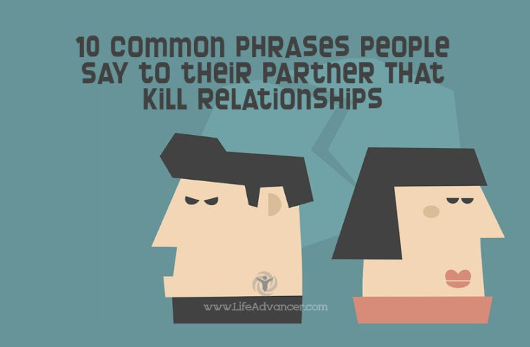 Common Phrases People Say to Their Partners and Kill Love