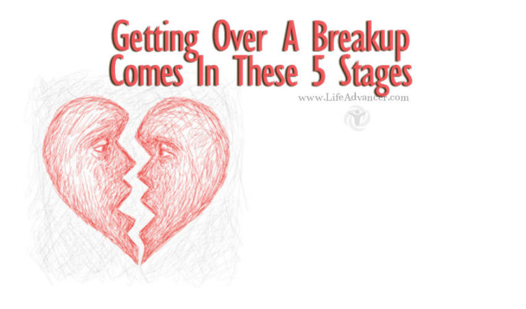 Getting Over a Breakup Comes in These 5 Stages