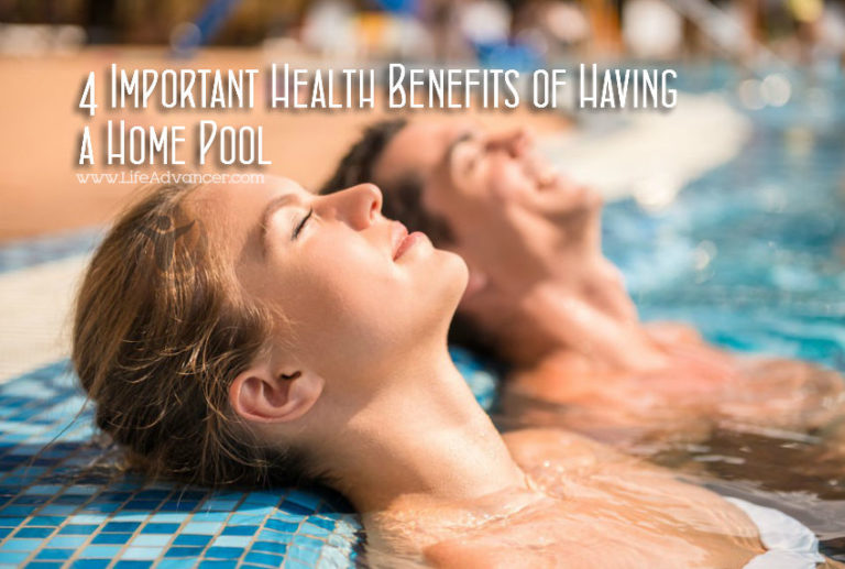 4 Important Health Benefits of Having a Home Pool