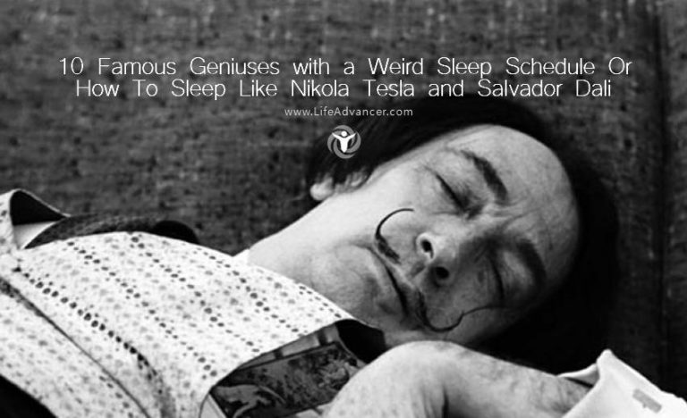 9 Famous Geniuses with a Weird Sleep Schedule or How to Sleep Like Nikola Tesla and Salvador Dali