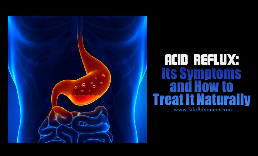 how to treat acid reflux from home