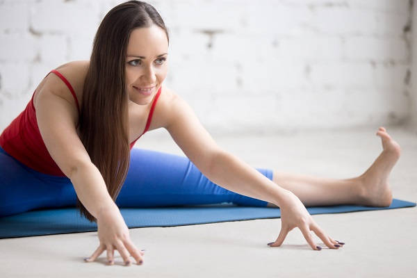 Seated straddle stretch