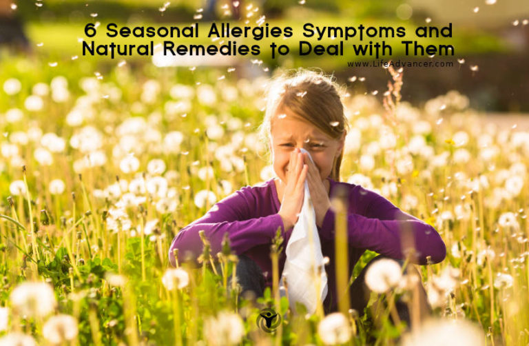6 Seasonal Allergies Symptoms and Natural Remedies to Deal with Them