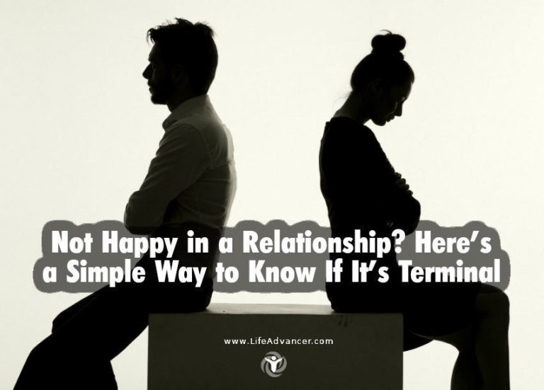 Not Happy in a Relationship? A Simple Way to Know If It's Terminal