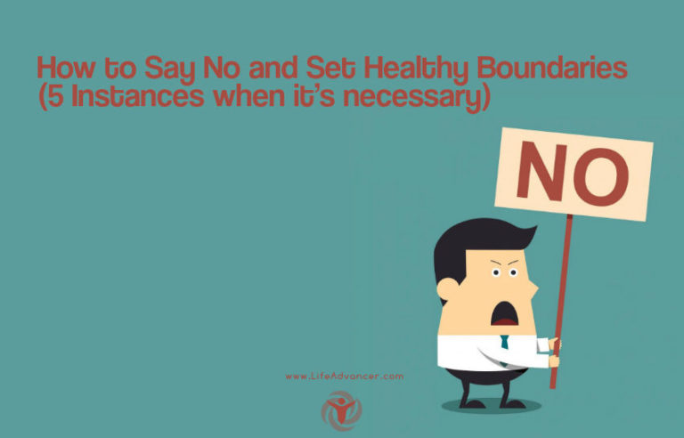 How to Say No and Set Healthy Boundaries (5 Instances When It's Necessary)