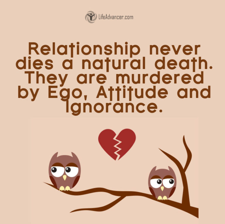 A relationship never dies a natural death