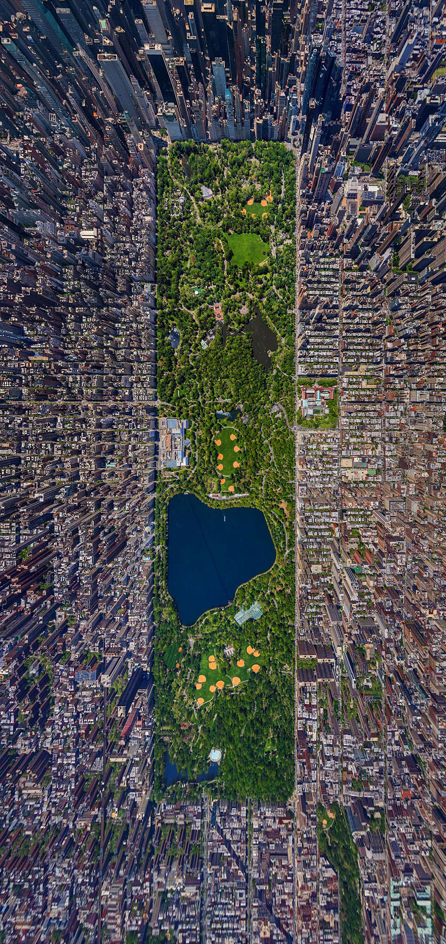 Central Park - bird's-eye view