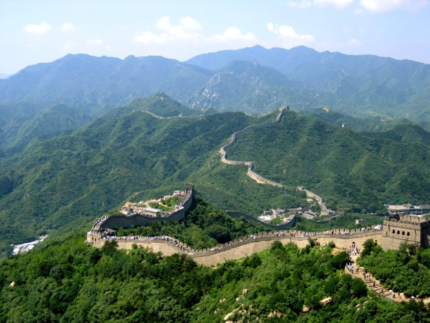 The Great Wall of China - bird's-eye view