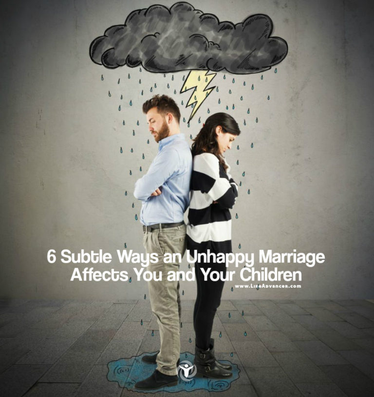 6 Subtle Ways an Unhappy Marriage Affects You and Your Children