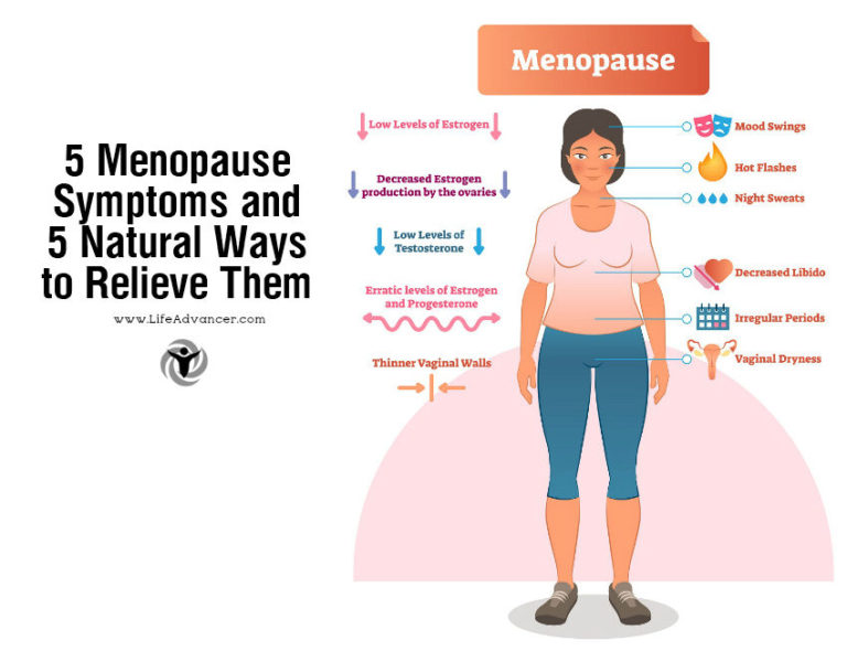 5 Menopause Symptoms and 5 Natural Ways to Relieve Them