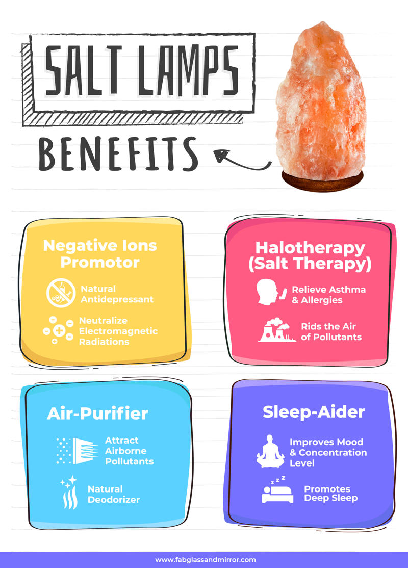 salt lamps benefits infographic