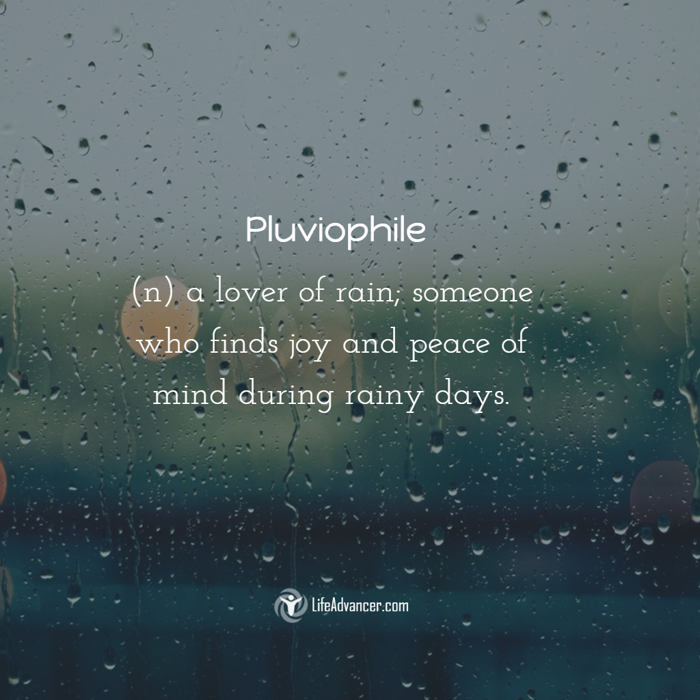 pluviophile definition