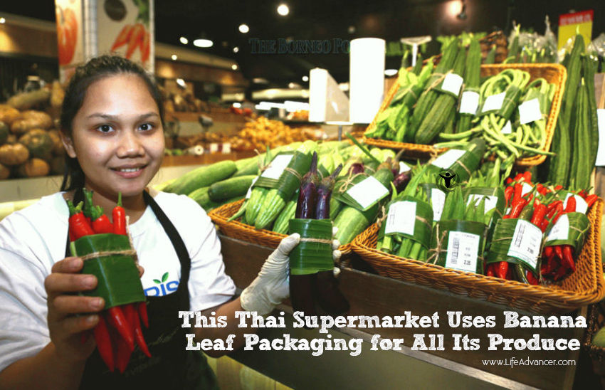 This Thai Supermarket Uses Banana Leaf Packaging for All Its Produce