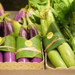 Eggplants banana-leaf-packaging-asian-supermarkets